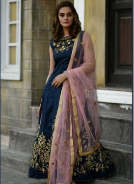 Silk Readymade Designer Gown