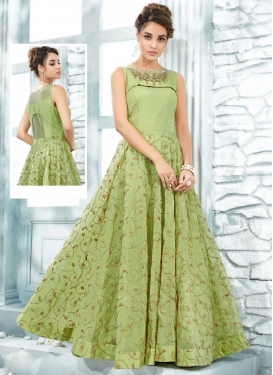 Silk Readymade Designer Gown For Party