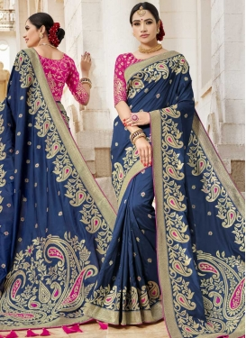 Silk Thread Work Designer Traditional Saree