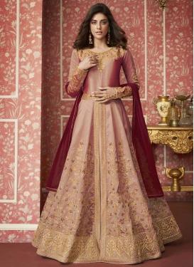 Silk Trendy Layered Floor Length Suit