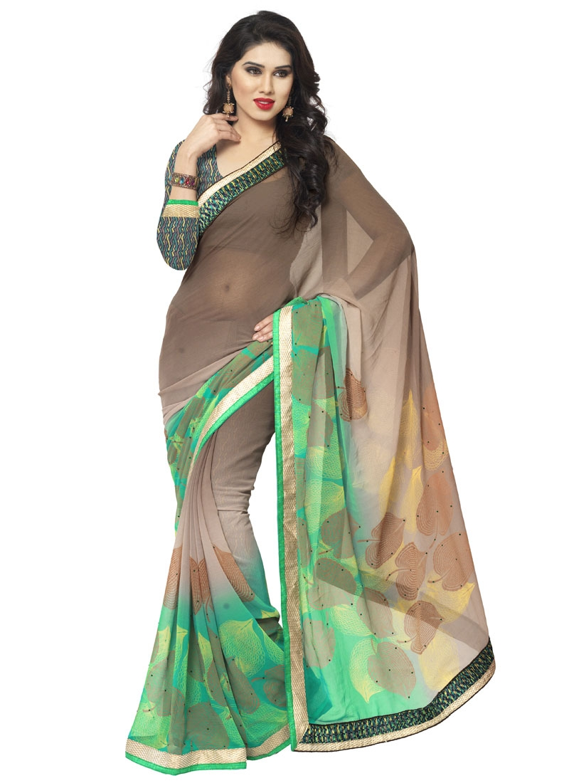 Simplistic Digital Print Work Casual Saree
