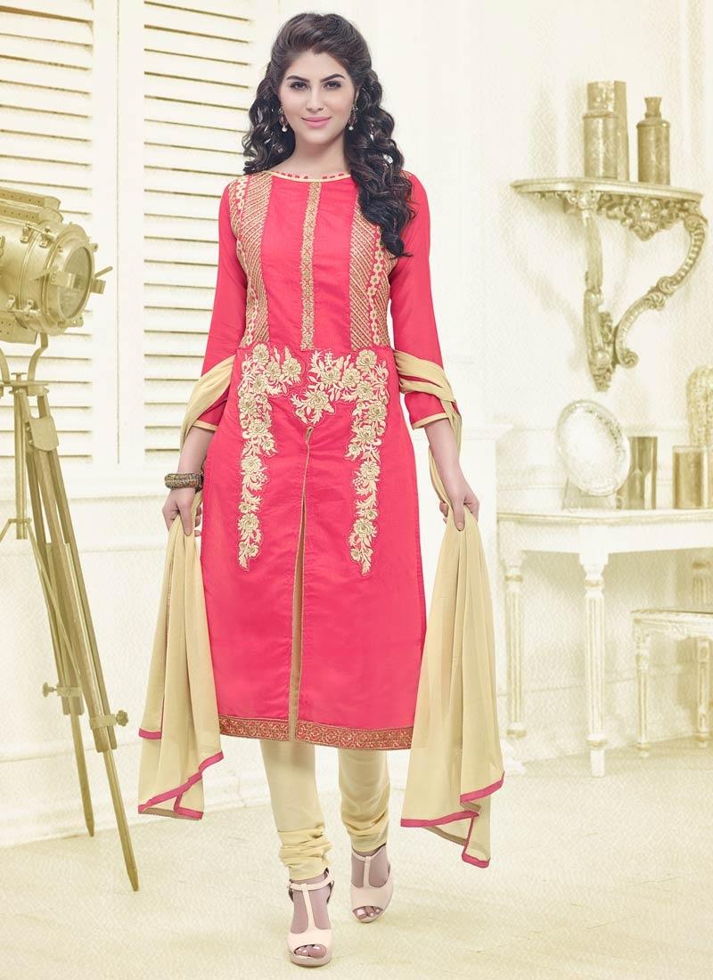 Simplistic Rose Pink Color Casual Salwar Kameez