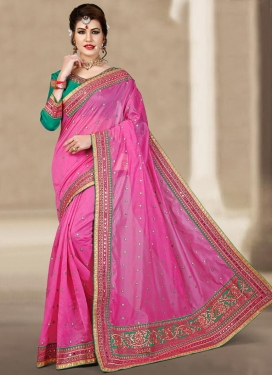 Snazzy Chanderi Silk Classic Saree For Ceremonial