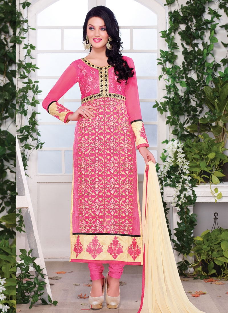 Snazzy Embroider And Stone Work Party Wear Suit