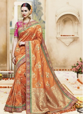 Snazzy  Embroidered Work Classic Saree