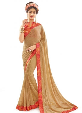 Snazzy  Faux Georgette Contemporary Style Saree