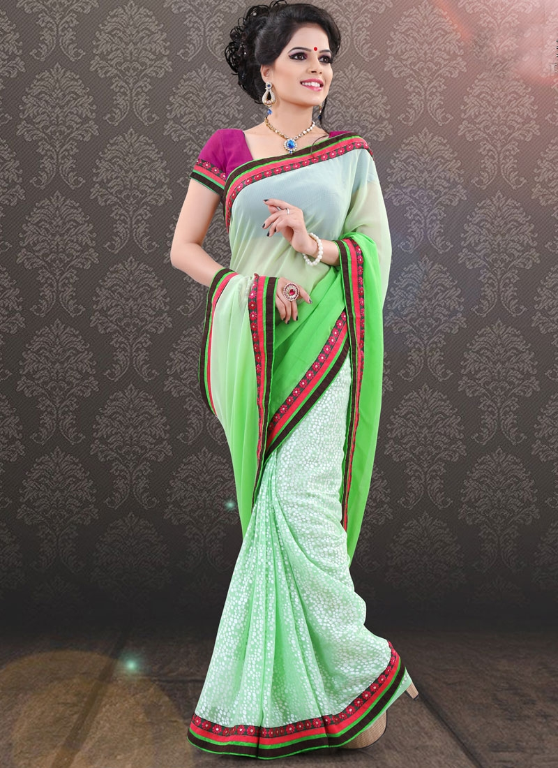 Snazzy Faux Georgette Party Wear Saree