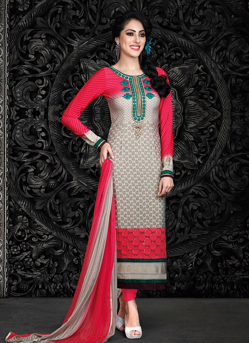 Snazzy Lace Work Pant Style Pakistani Suit