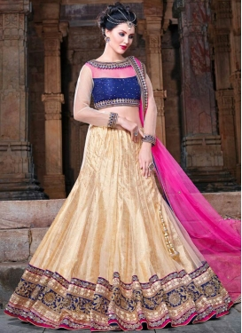 Snazzy Mirror Work Net Wedding Lehenga Choli