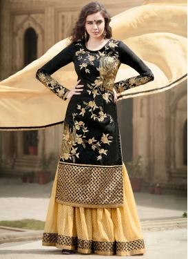 Snazzy Sequins Work Kameez Style Designer Lehenga Choli