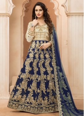 Snazzy Tafeta Silk  Ankle Length Anarkali Salwar Suit