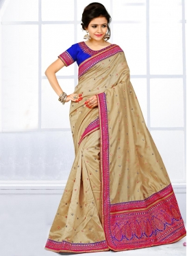 Sonorous  Embroidered Work Contemporary Saree