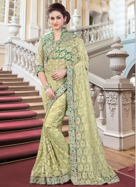 Sonorous Embroidered Work Designer Contemporary Style Saree