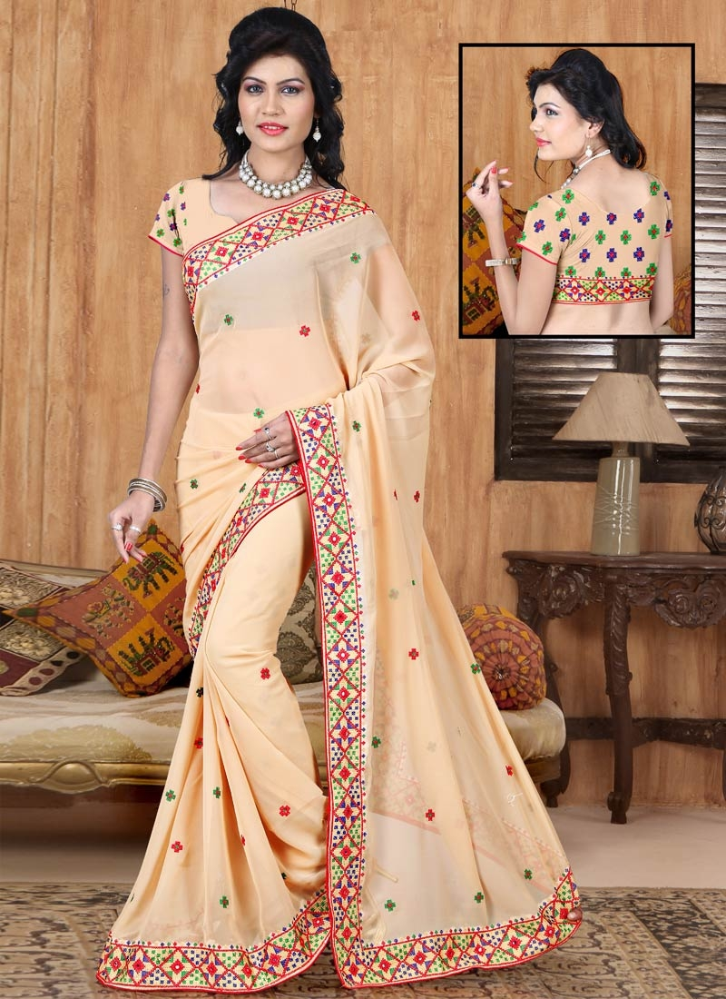 Sonorous Faux Georgette Party Wear Saree