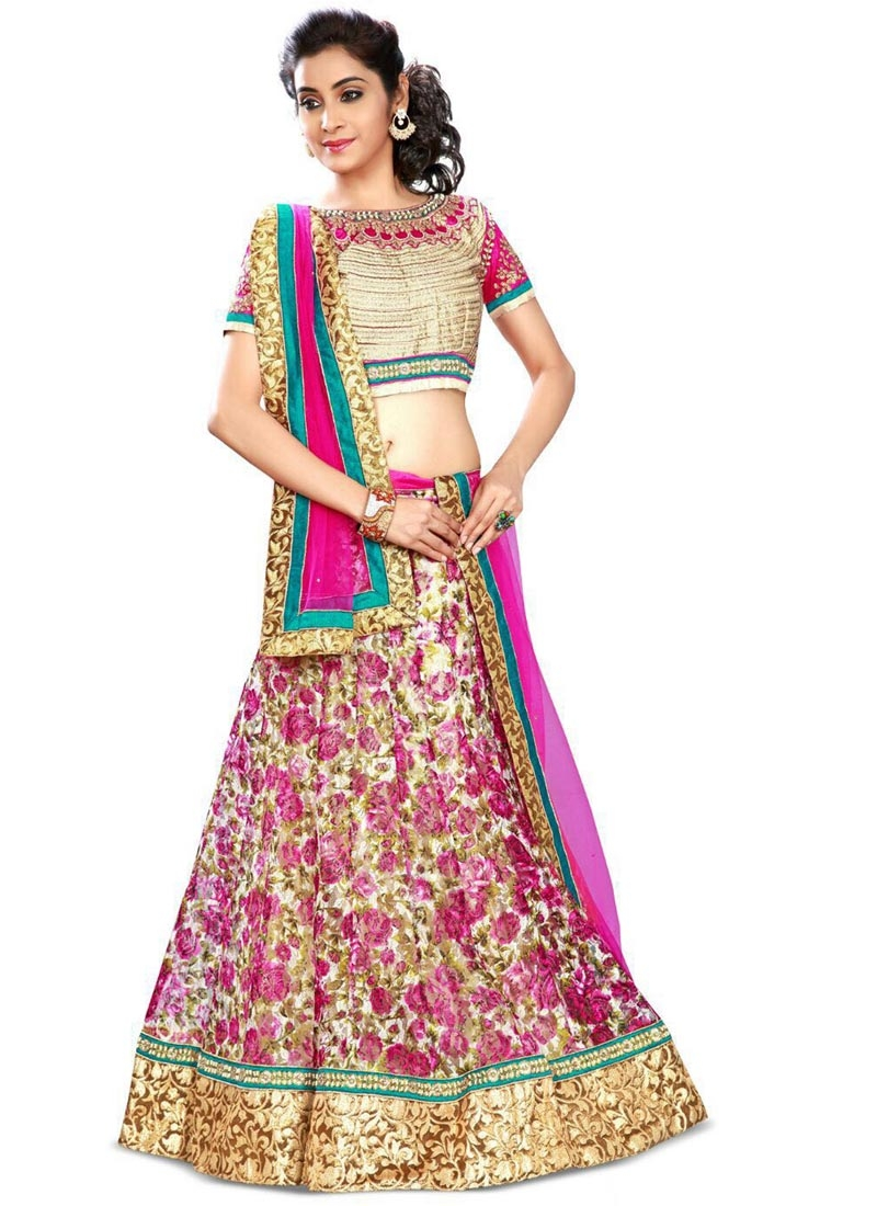 Sonorous Fuchsia Color Net Party Wear Lehenga Choli