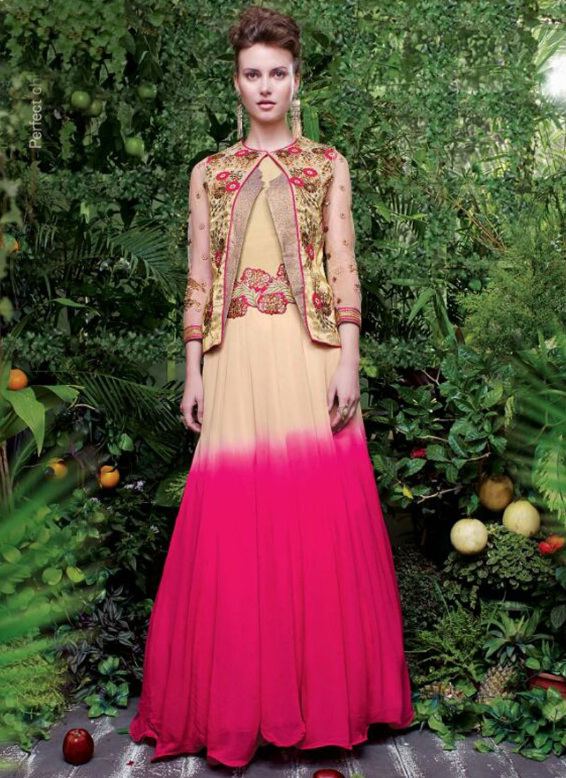 Sonorous Jacket Style Designer Readymade Gown