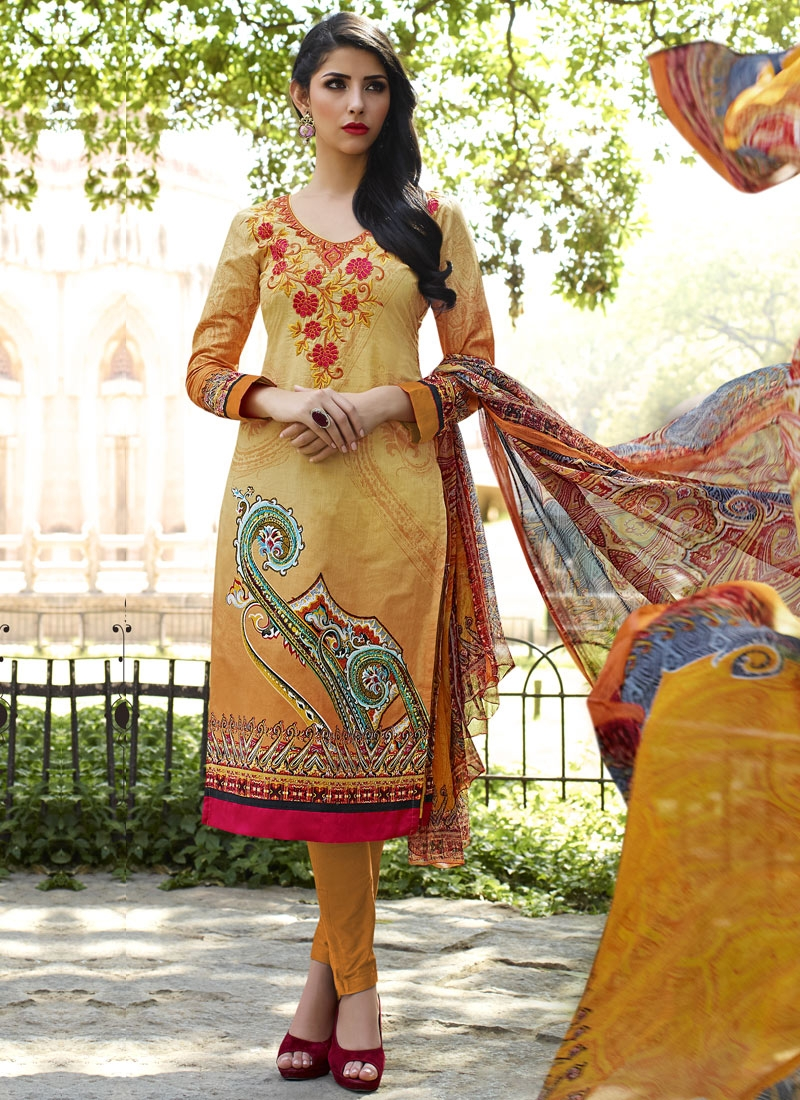 Sonorous Mustard Color Pant Style Party Wear Suit