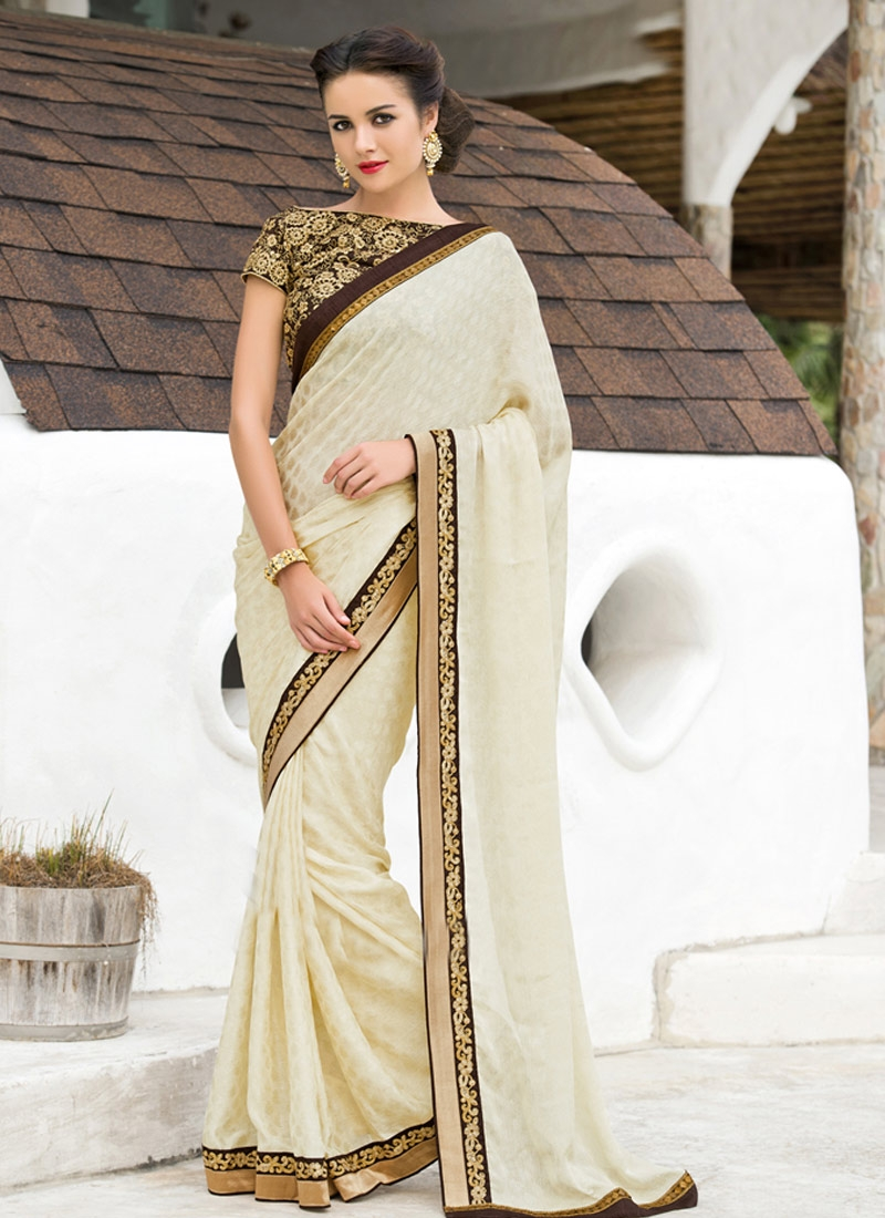 Sonorous Off White Color Party Wear Saree