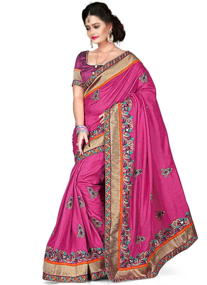 Sonorous Resham And Booti Work Designer Saree