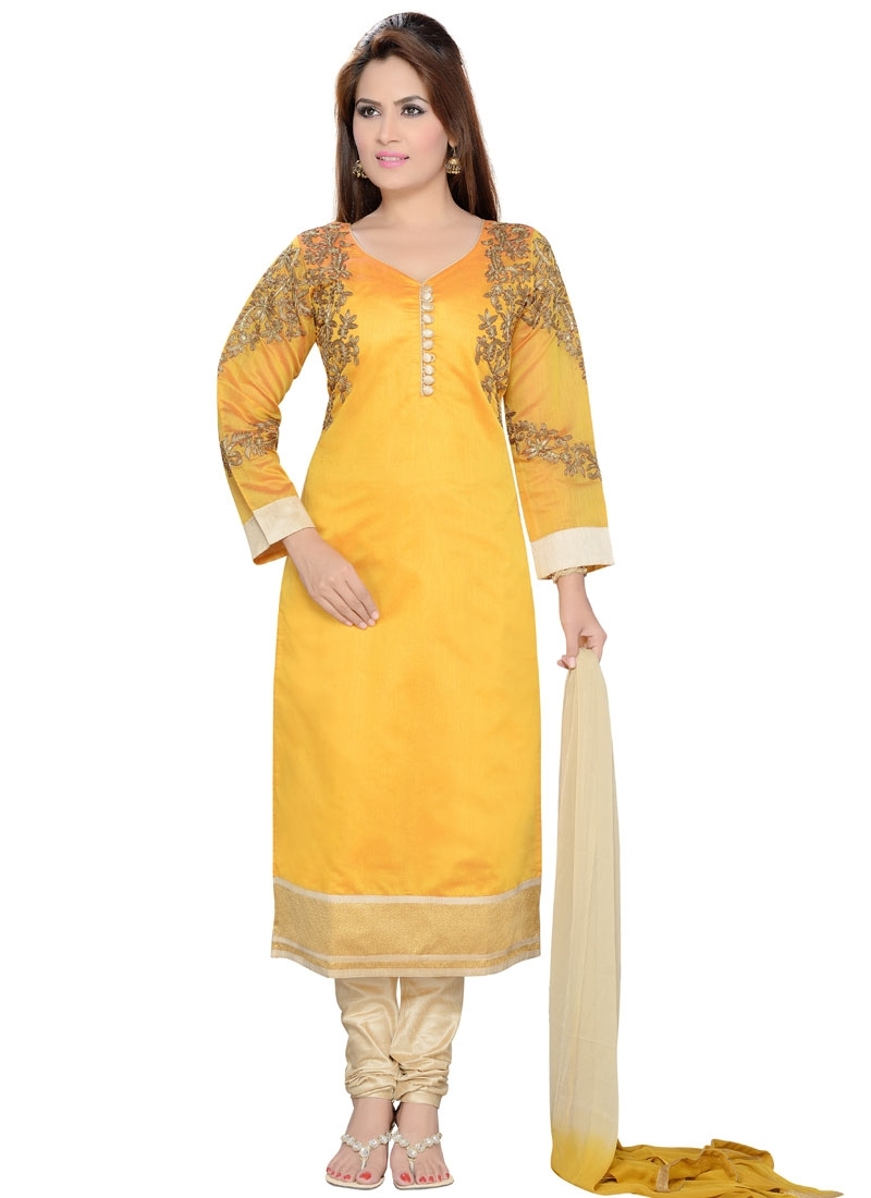 Sonorous Resham And Lace Work Designer Readymade Salwar Kameez