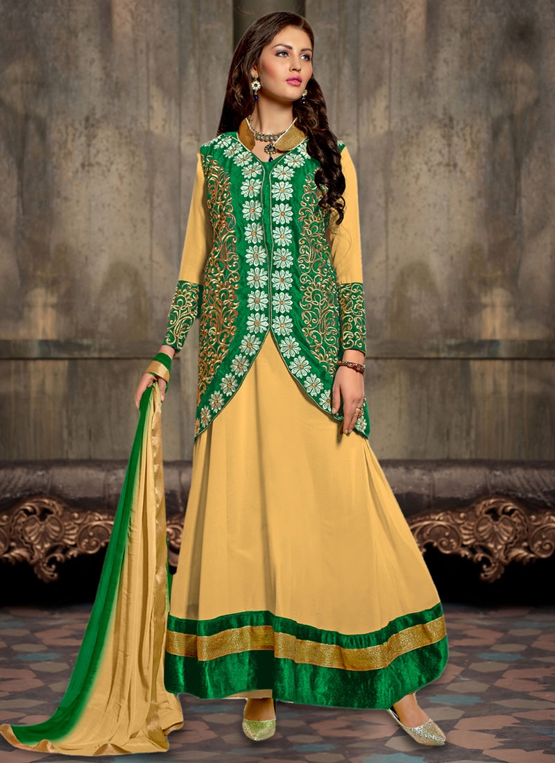 Sonorous Resham Work Jacket Style Party Wear Suit