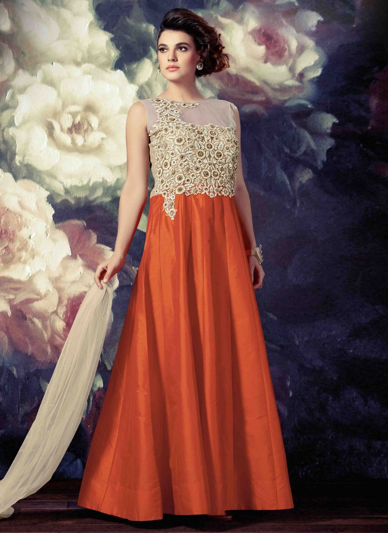 Sonorous Stone Work Floor Length Readymade Designer Salwar Suit