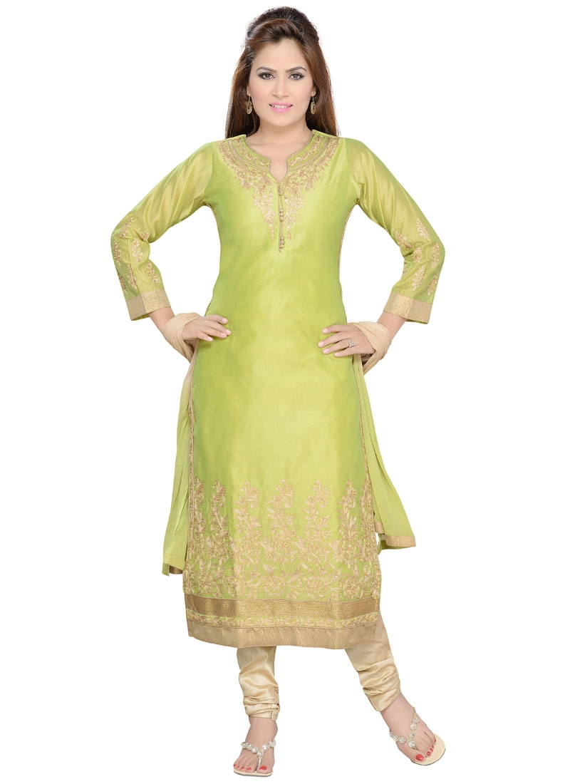 Sophisticated Art Silk Party Wear Readymade Salwar Kameez