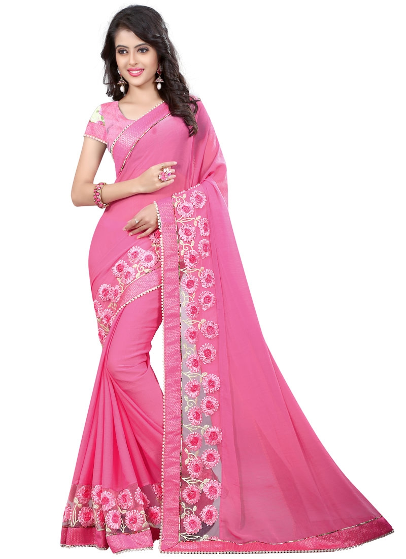 Sophisticated Beads Work Party Wear Saree