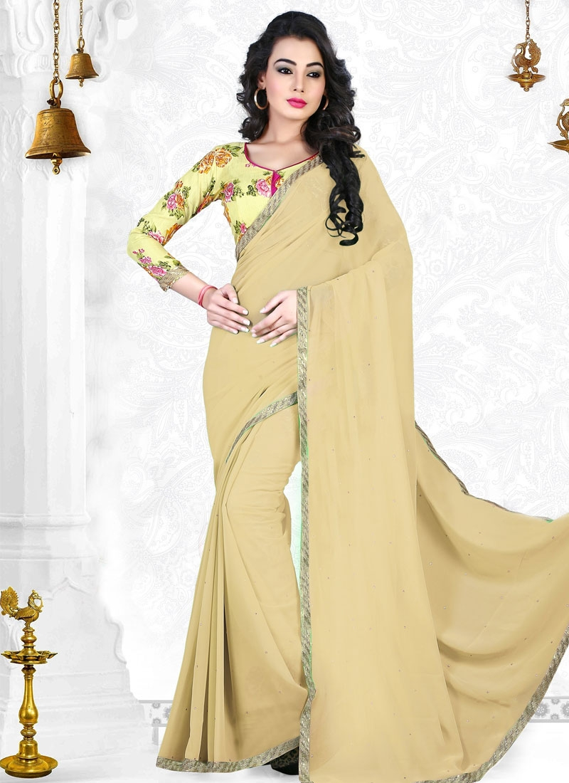 Sophisticated Beige Color Casual Saree