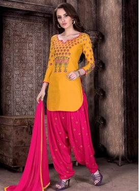 Sophisticated  Cotton  Designer Patiala Salwar Suit