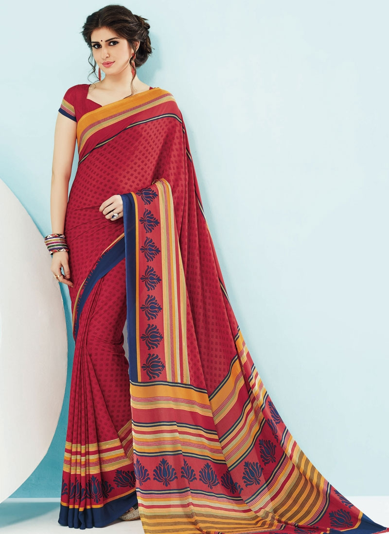Sophisticated Crepe Silk Casual Saree