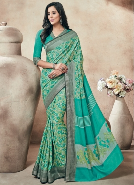 Sophisticated Digital Print Work Party Wear Saree