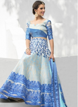 Sophisticated Digital Print Work Silk Trendy A Line Lehenga Choli For Festival