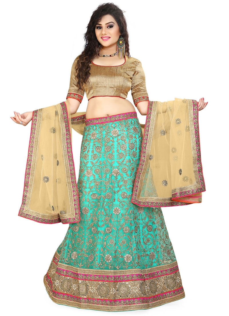 Sophisticated Embroidery And Mirror Work Wedding Lehenga Choli