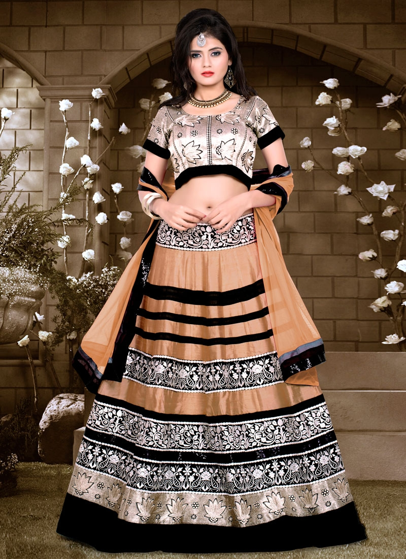 Sophisticated Lace Work Net Designer Lehenga Choli