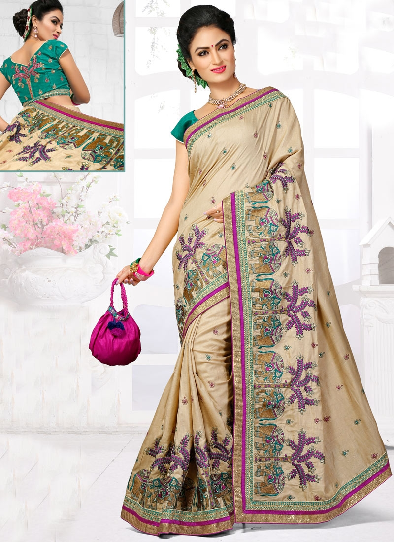 Sophisticated Manipuri Silk Wedding Saree