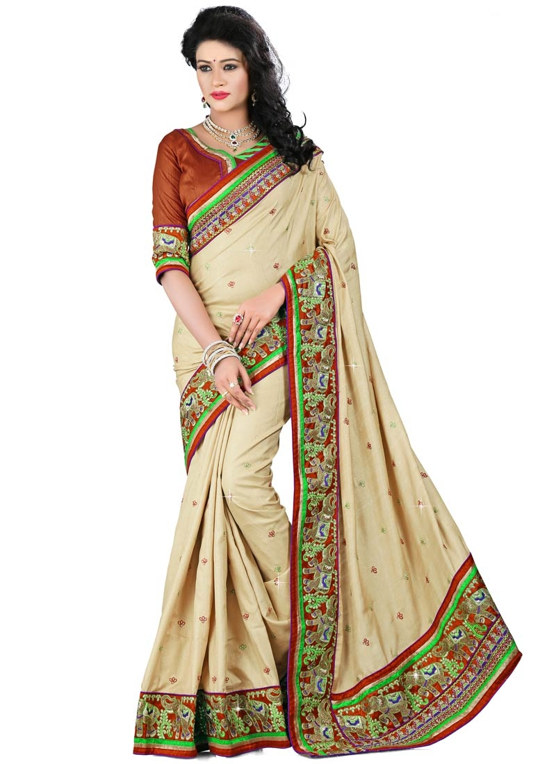Sophisticated Patch Border Work Designer Saree