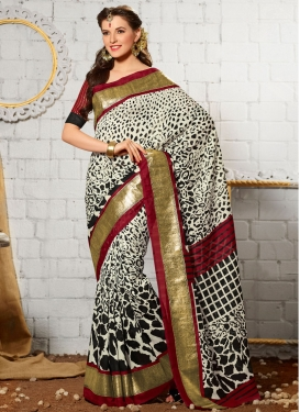 Sophisticated Printed Art Silk Casual Saree