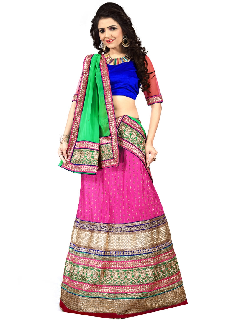 Sophisticated Resham And Stone Work Designer Lehenga Choli