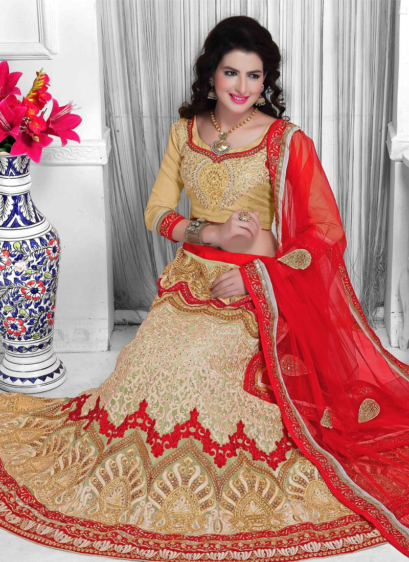Sophisticated Stone Work Bridal Lehenga Choli