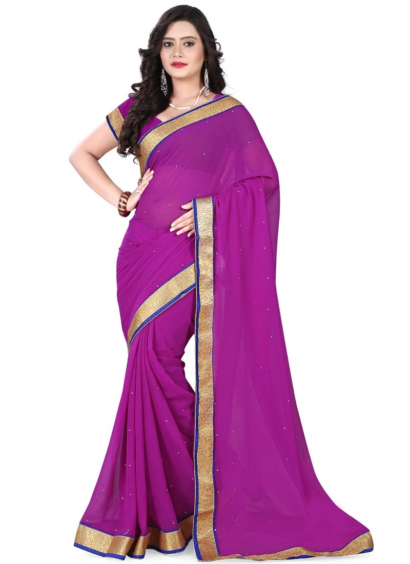 Sophisticated Stone Work Casual Saree