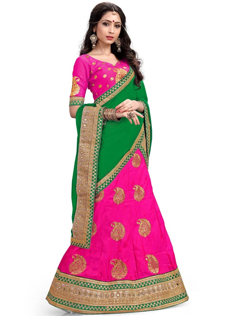 Sophisticated Stone Work Silk Wedding Lehenga Choli