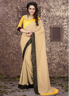 Sorcerous Beige Color Faux Georgette Casual Saree