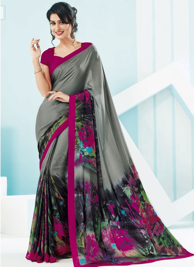 Sorcerous Crepe Silk Casual Saree