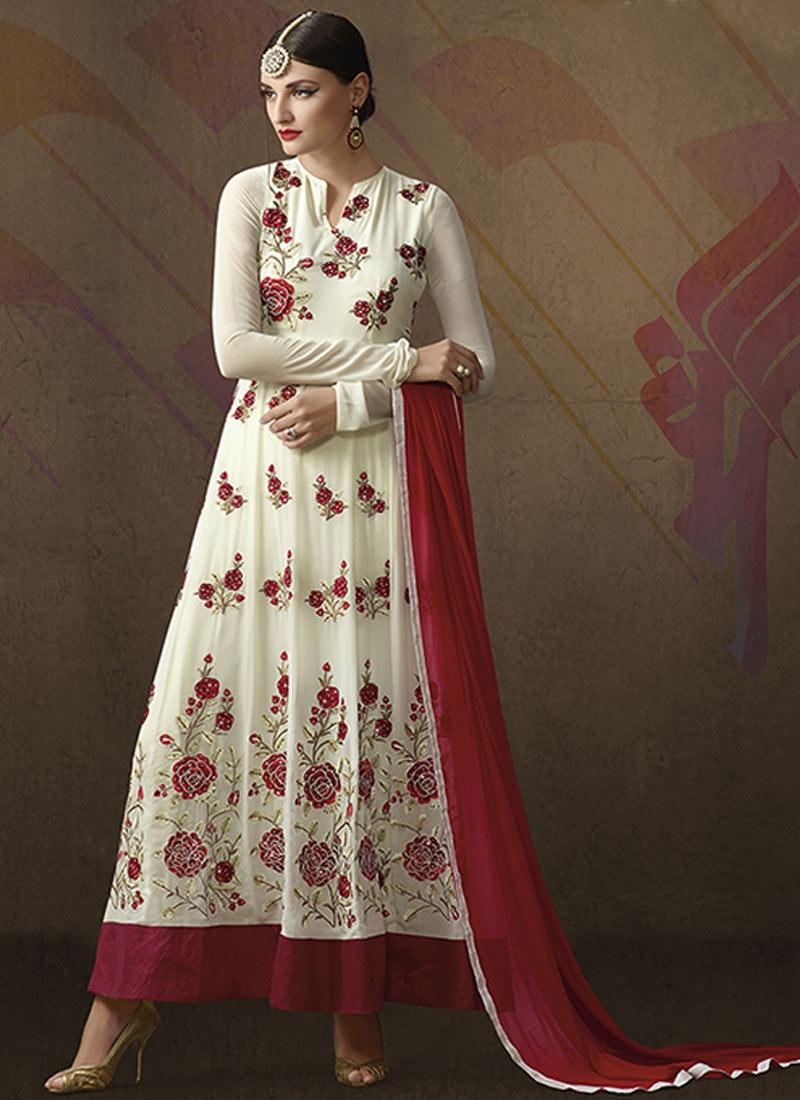 Sorcerous Floral Work Anarkali Salwar Kameez