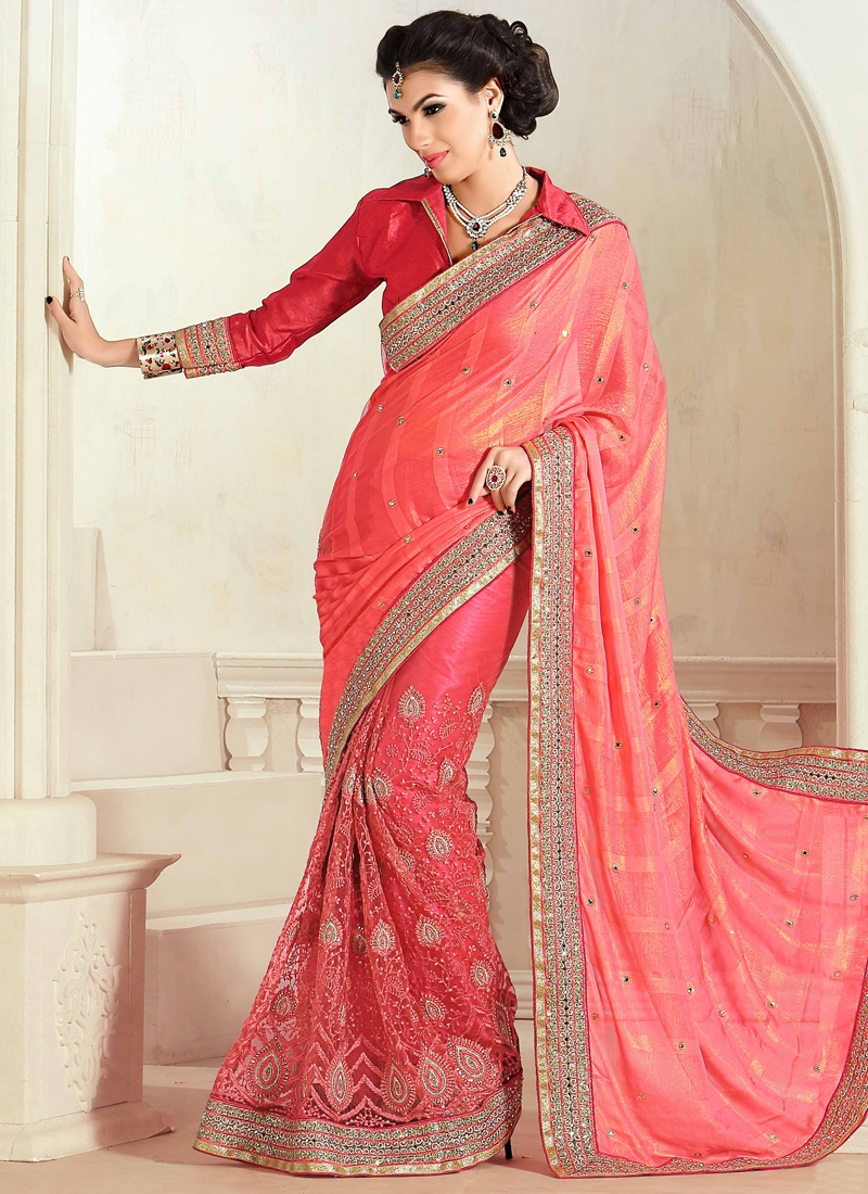 Sorcerous Lace Work Designer Saree