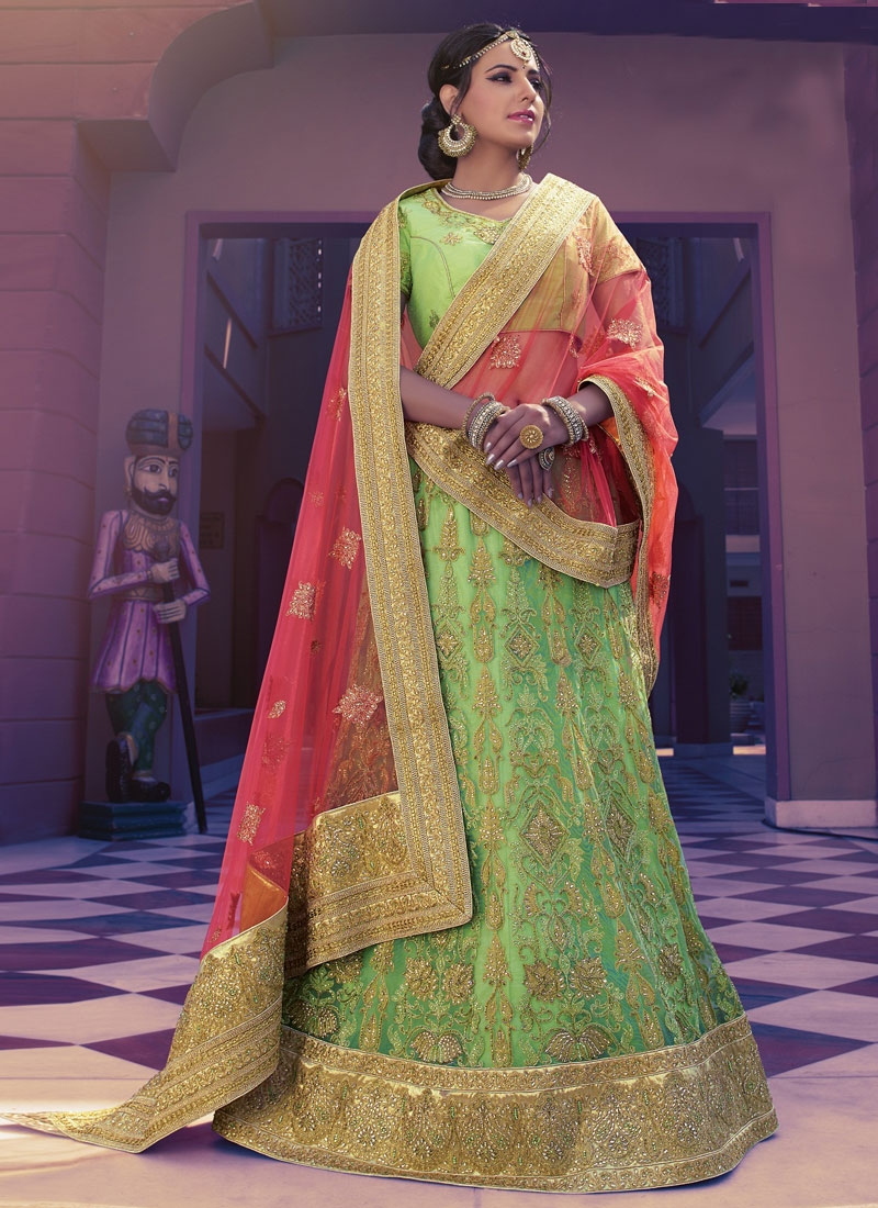Sorcerous Patch Border Work Bridal Lehenga Choli