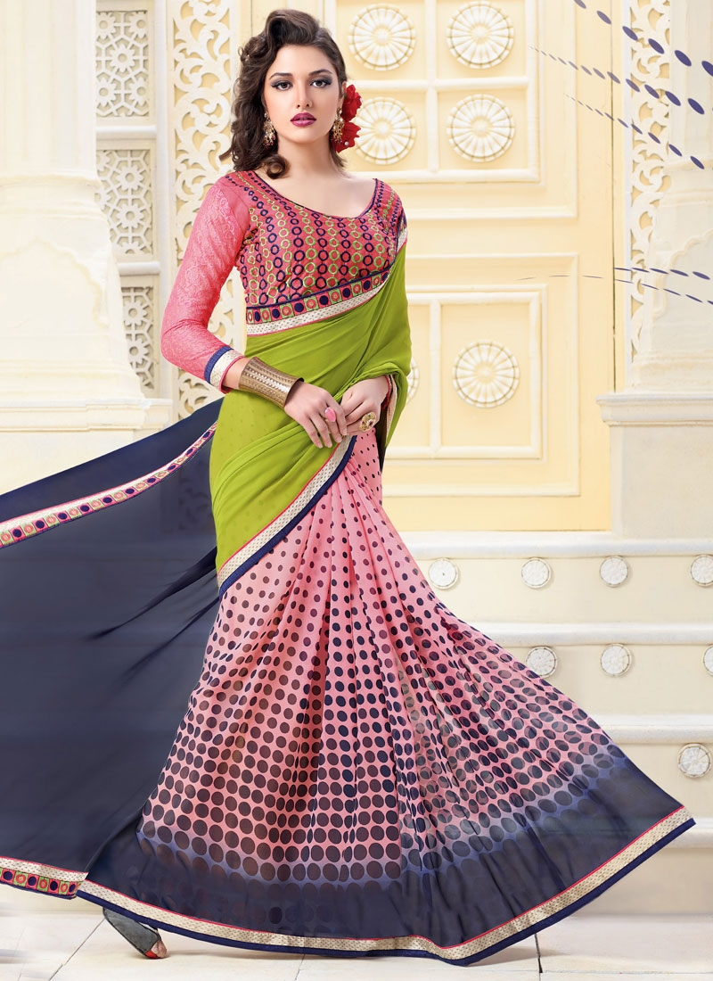 Sorcerous Polka Dotted Work Casual Saree