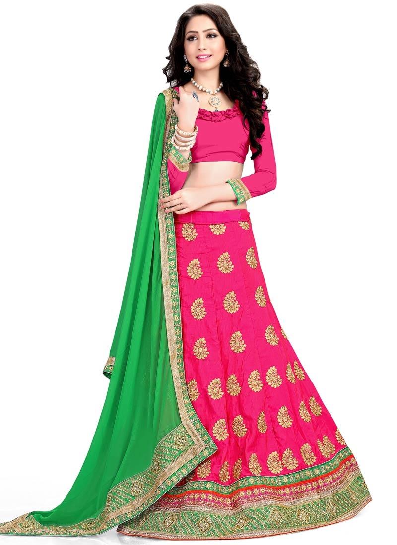 Sorcerous Rose Pink Color Silk Designer Lehenga Choli