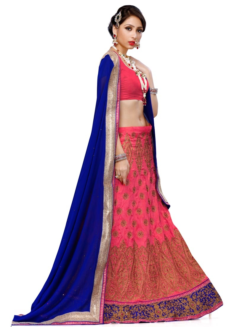 Sorcerous  Stone and Resham Work Wedding Lehenga Choli
